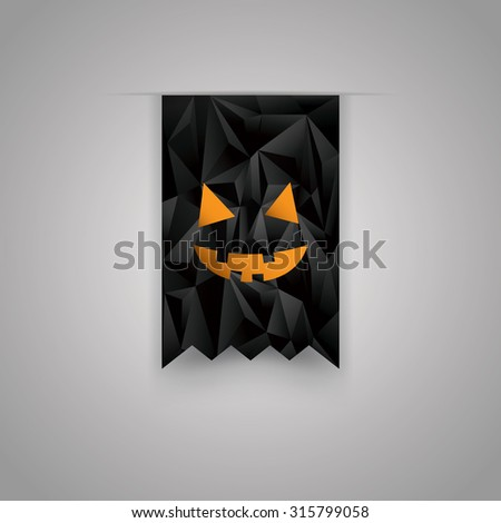 Halloween sale background. Holiday sales ribbon. Discounts promotional element. Eps10 vector illustration. - stock vector