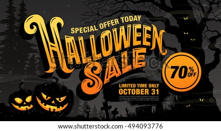 halloween sale vector illustration - Halloween Sales
