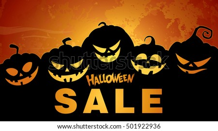 Halloween Sale Vector Illustration Stock Vector 501922936 ...