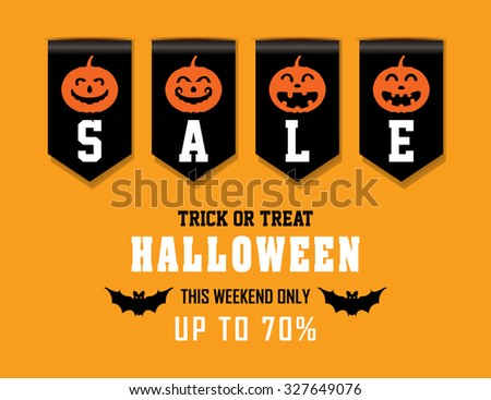 Halloween Sale Sales Ribbon Stock Vector 327649076 - Shutterstock