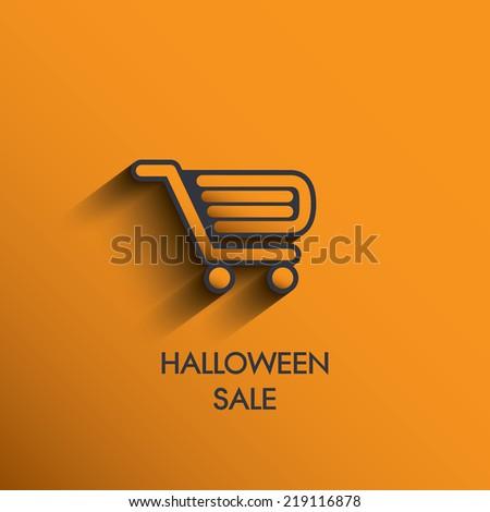 Halloween sales concept design. Eps10 vector illustration - stock vector