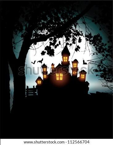 Halloween Scenery - stock vector