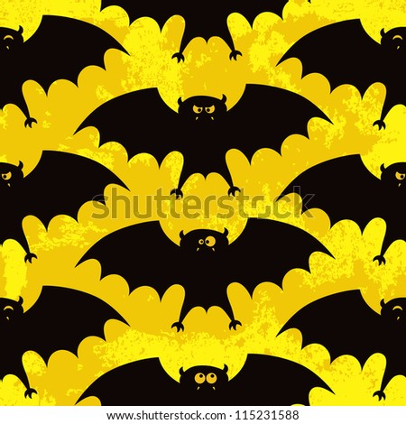 Halloween seamless pattern with funny bats. EPS 10 vector illustration. RGB. - stock vector