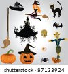 Halloween set - stock photo