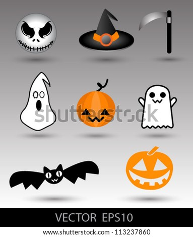 Halloween set cute, can use for halloween objects for halloween festival