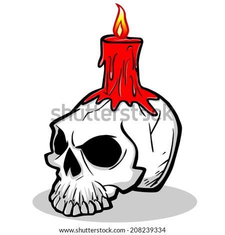 Halloween Skull - stock vector