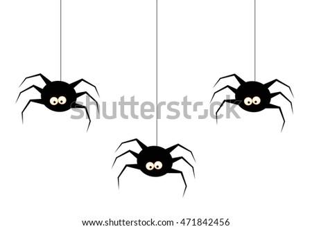 Halloween Spiders Stock Vector 471842456 - Shutterstock