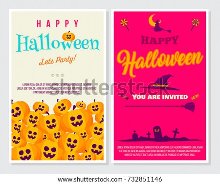 Halloween Style Poster Vector Illustration Ideal Stock Vector ...
