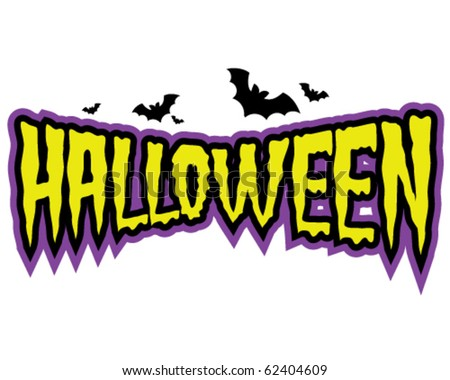 Halloween tag, bat - stock vector