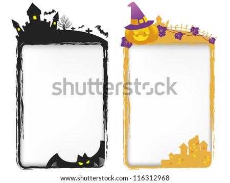 Halloween templates/ card / invitation - stock vector