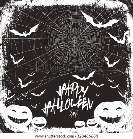 Halloween themed party flyer - stock vector