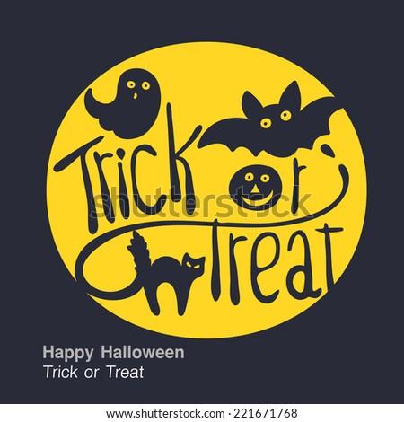 halloween. trick or treat. background - stock vector