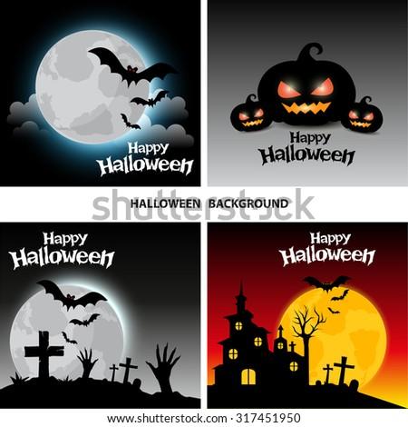 Halloween vector background - stock vector