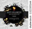 Halloween vector card  or background. Vector art. - stock vector