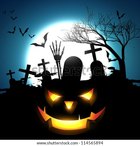 halloween vector design background illustration - stock vector