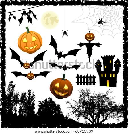 Halloween vector elements - stock vector