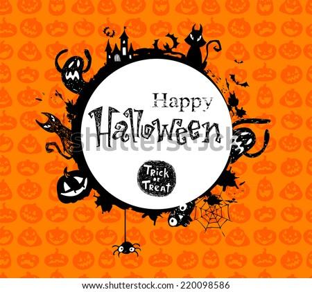 Halloween Vector Frame Stock Vector 220098586 - Shutterstock