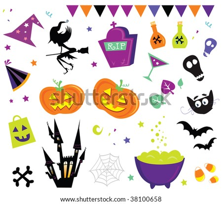 Halloween vector Icons set III. Halloween vector icons. - stock vector