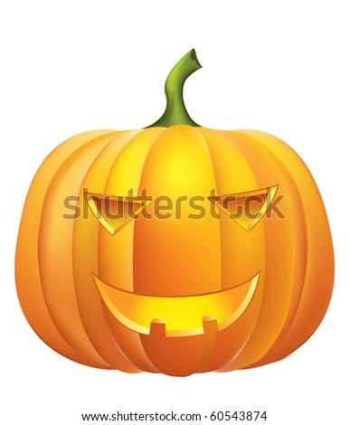 Halloween.Vector pumpkin on white. - stock vector