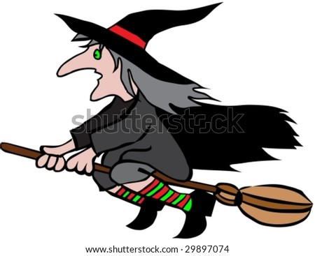 halloween witch 2 vector