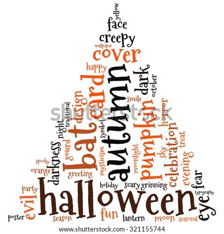 Halloween Words Background Vector Stock Vector 321155744 ...