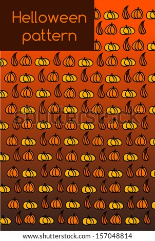 Hallowen pattern. EPS 10 - stock vector