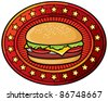 hamburger - stock vector