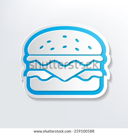 Hamburger design on white background,clean vector - stock vector