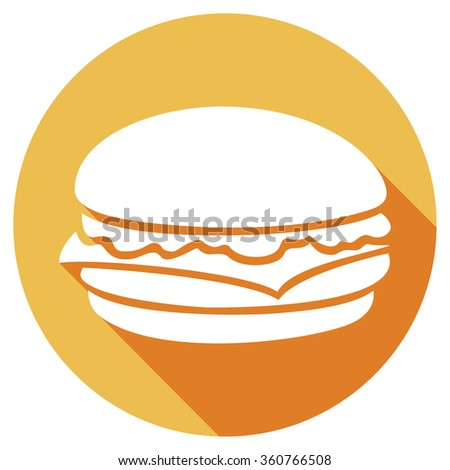 hamburger flat icon - stock vector