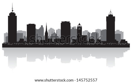 Hamilton Canada city skyline silhouette vector illustration