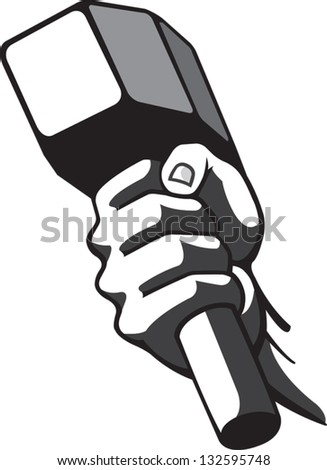 Hammer and Hand - stock vector