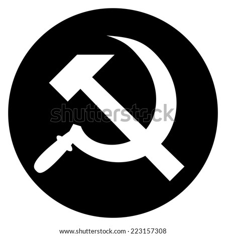 hammer and sickle isolated on white background, vector illustration - stock vector