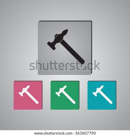 Hammer Icon / Hammer Icon Vector / Hammer Icon Picture / Hammer Icon Image / Hammer Icon Graphic / Hammer Icon Art  - stock vector