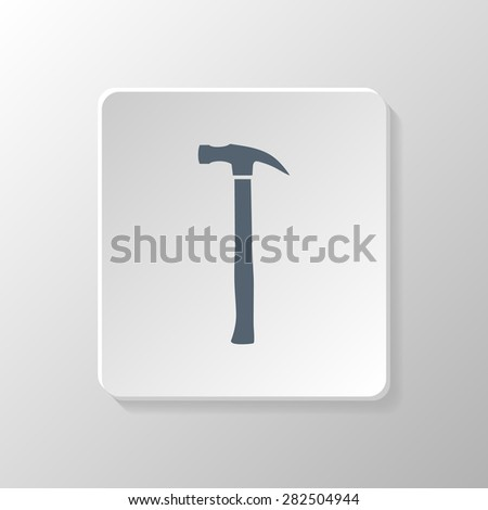 Hammer icon isolated. Hammer symbol. Hand tools. Vector illustration. - stock vector