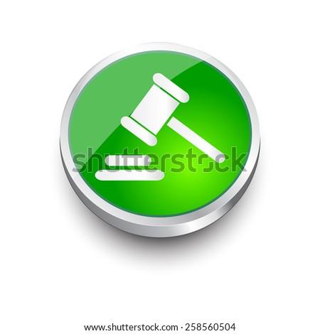 Hammer judge icon. gavel law legal hammer. - stock vector