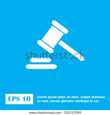 Hammer judge icon. gavel law legal hammer - stock vector