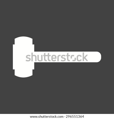 sledge hammer in use. hammer, sledge, sledgehammer icon vector image. can also be used for construction, sledge hammer in use