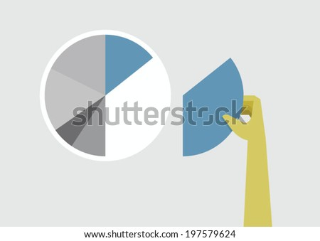 Hand add and create chart - stock vector