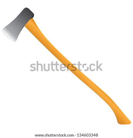 Hand Axe isolated on white background. Vector illustration. - stock vector
