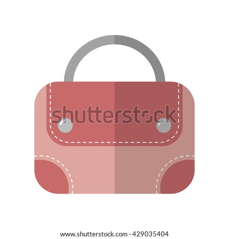 Hand bag isolated. Color flat icon and object. Fashion accessory.