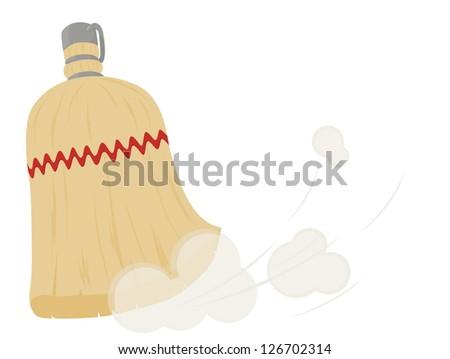 Hand Broom - stock vector
