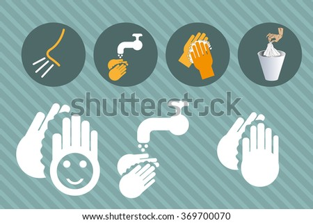 Hand cleaning - stock vector