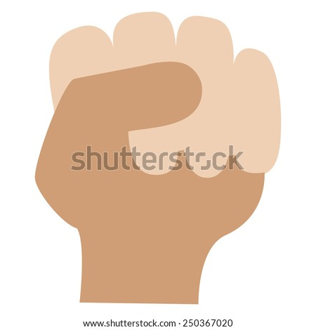 Hand clenched into a fist. - stock vector