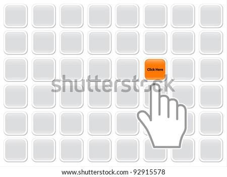 Hand Click Colo - stock vector