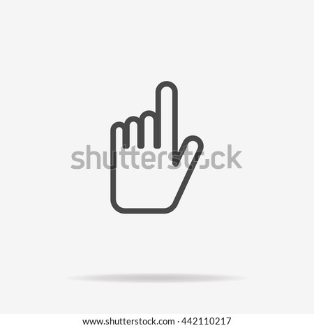 Hand click icon. Vector concept illustration for design.