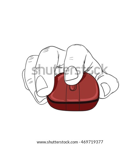hand click mouse vector
