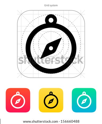 Hand compass icon. Vector illustration. - stock vector