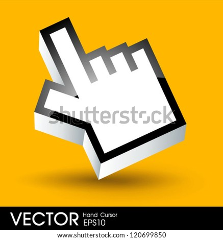 hand cursor - stock vector