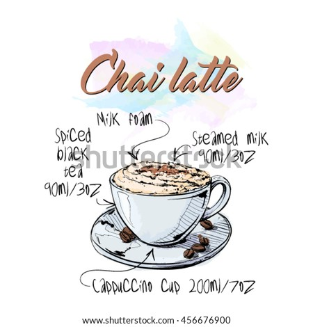 hand draw of coffee cup vector illustration