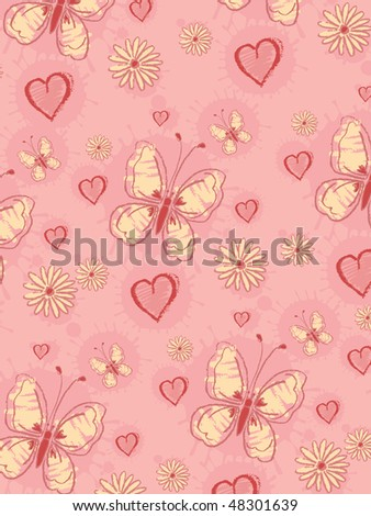 Hand draw pattern - stock vector